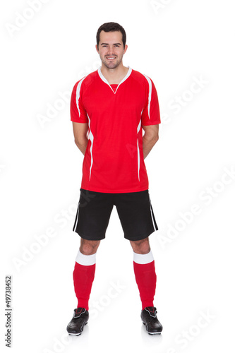 Portrait of professional soccer player