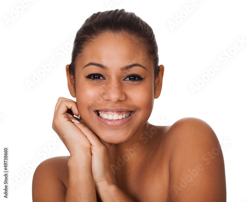 Beauty Shot Of Happy Young Woman