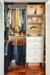 Organized closet - 49739012