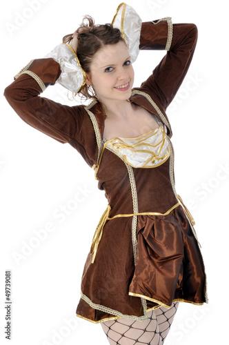 Junge Frau in Karnevals-Kostüm