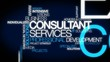 Consultant services professional training tag clouds animation