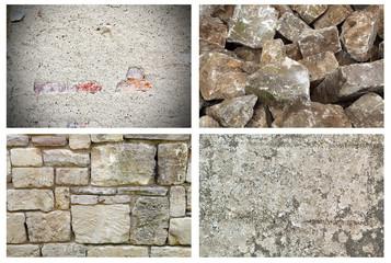 Steinhintergründe, Steinmauer, Steinhaufen