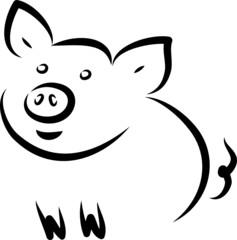 Fröhliches Schwein - Bio Fleisch - Logo