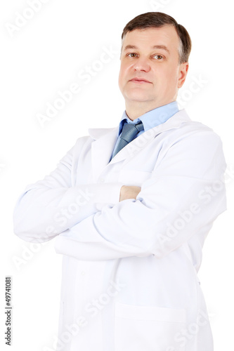 Medical doctor isolated on white