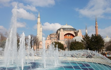 Exterior view of Hagia Sophia