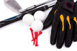 Golf Glove  Ball tees and club