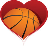 Heart with Basketball Inside