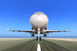 Jet Plane Taking off with Motion Blur
