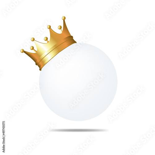 Golden Crown On White Blank Card