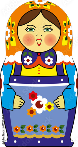 matreshka doll isolated on white