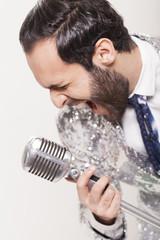 Sänger beim Auftritt