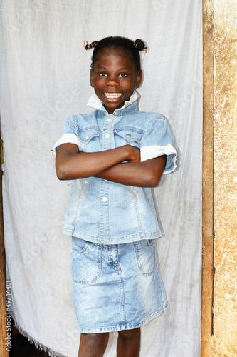 Fotobehang Overige Smiling young African girl