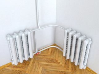 Central heating. 3D isolated