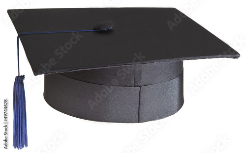 mortarboard on white background