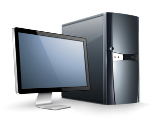 Computer with monitor