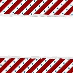 Red Stripes with Blue Stars background for your message or invit