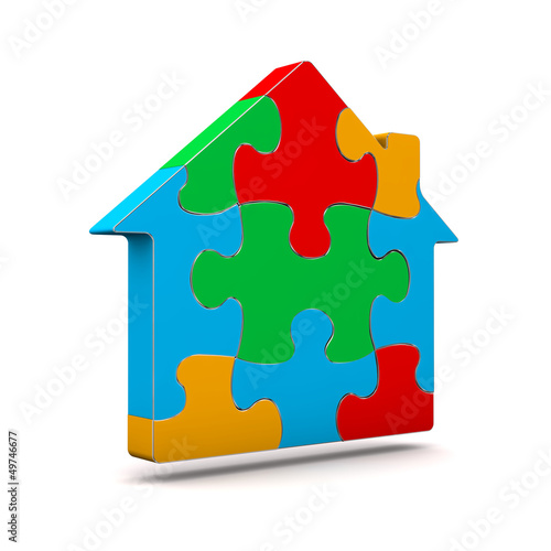 Colorful Puzzle House