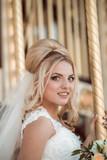 elegant bride in wedding day