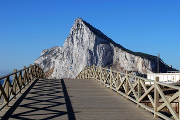 Footbridge and rock of Gibraltar © Arena Photo UK