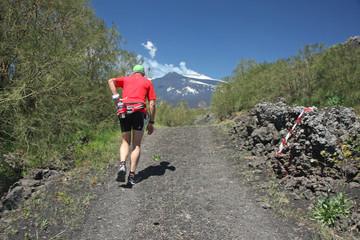 Trail sur l'Etna