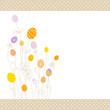 Eggflowers Background Pattern Purple/Yellow/Orange Dots