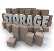 Storage Word Piles Cardboard Boxes Basement Locker