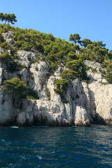The famous Calanques of Cassis, near Marseille, in Bouches du Rh