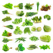 Vegetables collection isolated on white background