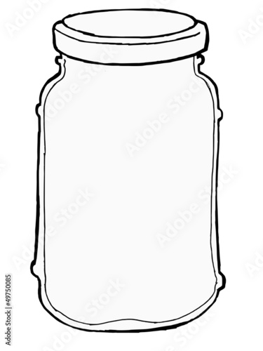 hand drawn, vector, sketch illustration of jar