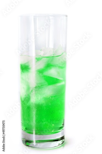 Green fizzy water.