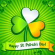 Saint Patrick's Day clover greeting card