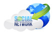 social media Cloud Concept