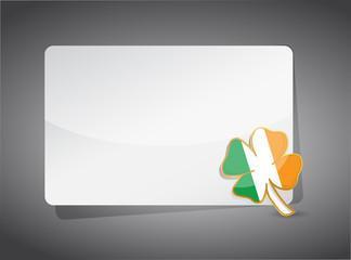 saint Patrick clover presentation board