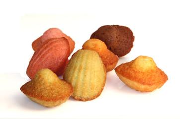madeleines de différentes couleurs