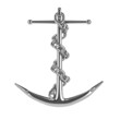 Silver anchor with chain wrapped round
