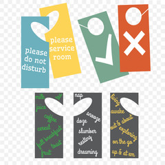 hotel or B and B door hanger sets