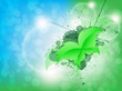 Green Leaf Butterfly Background