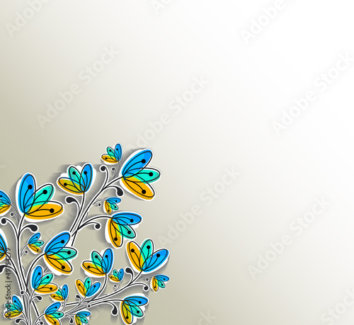 Vector artistic floral background