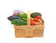 Colourful  fresh vegetables in basket