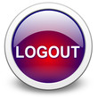 LOGOUT, push-button, vektor