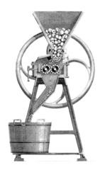 Machine : making Cider - Cidre - Apfelwein - 19th century