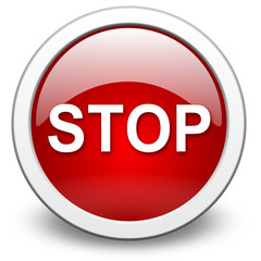 STOP, vector button
