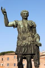 Statue of emperor Trajan in Rome, Italy