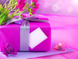 Pink giftbox for mother