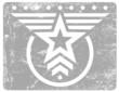 Military style grunge emblem