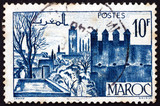 Postage stamp French Morocco 1947 Gardens of Fez