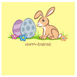 Easter Bunny 2 Eggs pastell