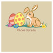 Easter Bunny 2 Eggs pastell FO