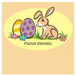 Easter Bunny 2 Eggs pastell oFO