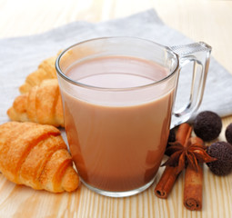 Cocoa drink with spicy spices